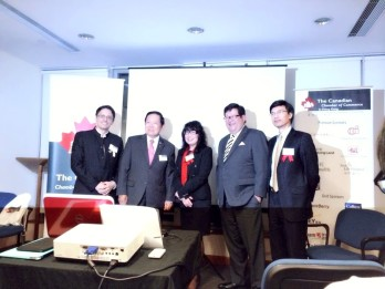 With Canadian Senator Honoreable Victor Oh, Madeleine Behan, Gary Mar, Philip Leung